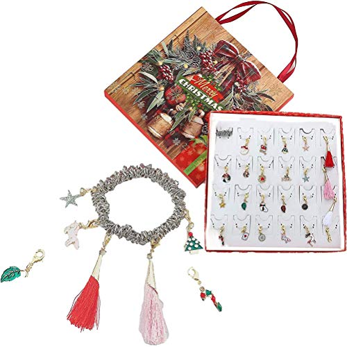 WBTY DIY Bracelet Charms Advent Calendar Countdown To Set Box for Children Girls