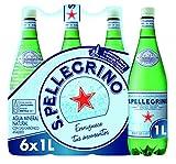 San Pelegrino - Agua mineral natural con gas, 6 botellas, 1L