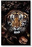 CAPTIVATE HEART Arte de la Lona Pintura 30x50cm sin Marco Carteles de Arte de Animales Tigre Leones Oso Impresiones de Arte de Pared Cuadros de Pared para la Sala de Estar Decoración del hogar