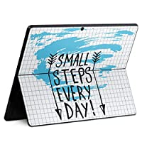 igsticker Surface Pro X 専用スキンシール サーフェス プロ エックス ノートブック ノートパソコン カバー ケース フィルム ステッカー アクセサリー 保護 010048 英語 文字 青