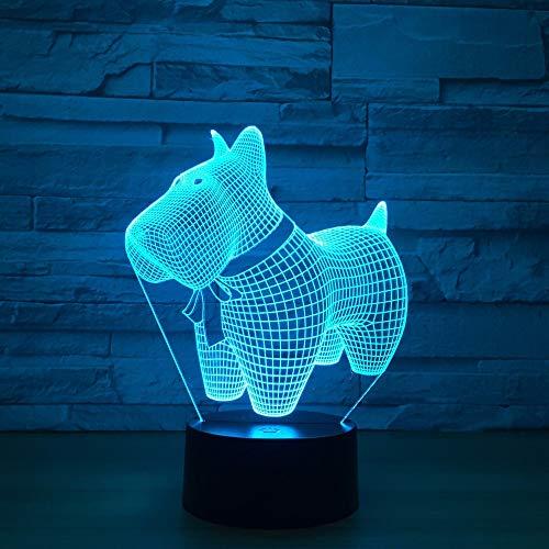 Jiushixw 3D driedimensionaal van kleur veranderend nachtlampje met afstandsbediening bureaulamp moer auto dragon bal lichte kinderen bedlampje emotie wit rond