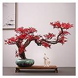 Bonsai Plant Creativo gran simulación planta ornamentos en maceta casa sala de estar TV gabinete verde plantas adornos oficina bonsai decoración regalos Fake Plant Decoration Plantas ( Color : B )