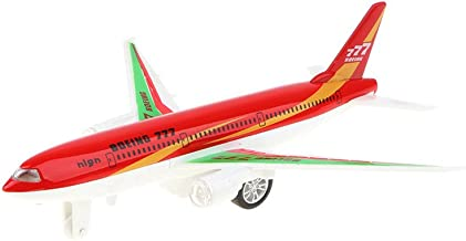 Homyl Alloy Die-cast Pull Back Plane Toy, Red Colored Boeing 777 Airplane Model for Kids, Adults Collectibles