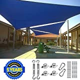 Quictent 26 X 20 ft 185G HDPE Rectangle Sun Shade Sail Canopy 98% UV Block Outdoor Patio Garden with...