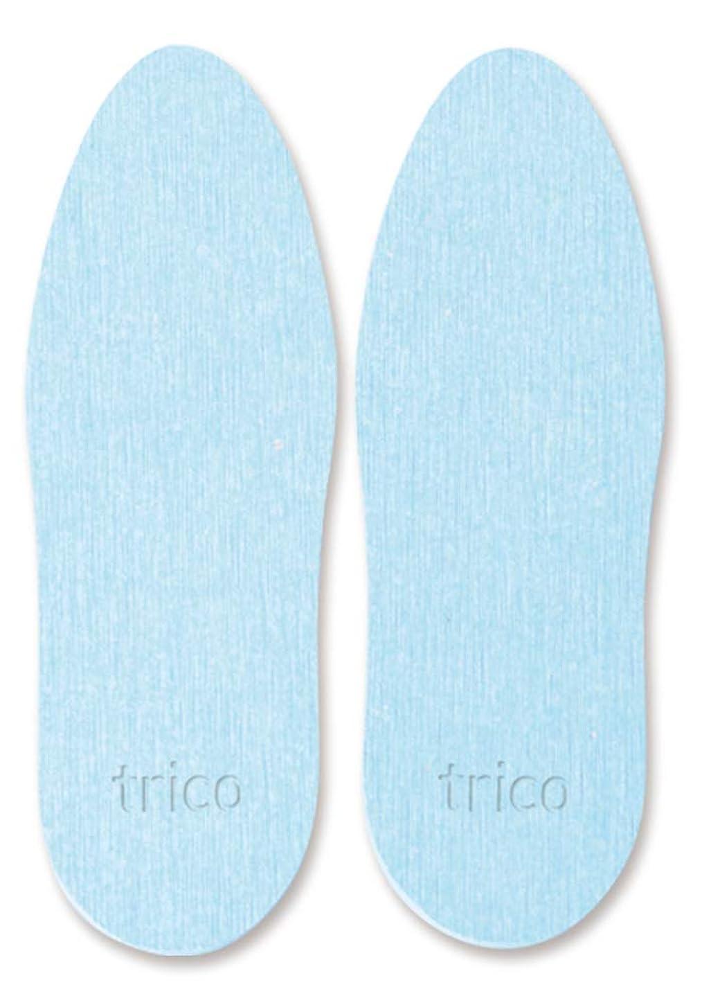 実り多いゼロ顎trico 靴の消臭 珪藻土 シューズドライプレート ブルー CTZ-18-02
