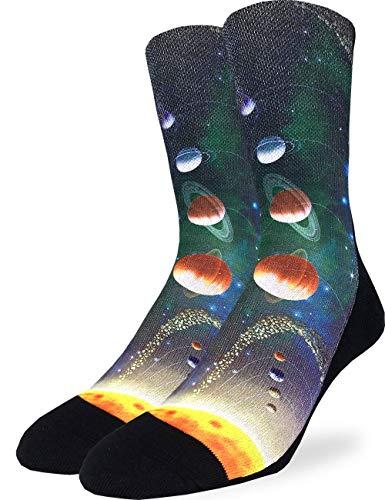 Good Luck Sock Men's Solar System Socks, Adult