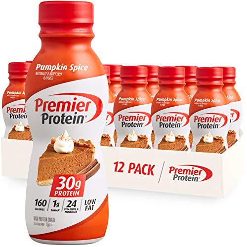 Premier Protein Shake Limited Edition 30g 1g Sugar 24 Vitamins Minerals Nutrients to Support Immune Health 11.5 12 Pack, Pumpkin Spice, 138 Fl Oz