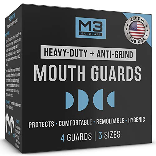 M3 Naturals Heavy Duty Mouth Guards for Teeth Grinding Clenching Bruxism Moldable Trimmable Retainer for Bite, Sleep, Sport Athletic, Mouthguard....