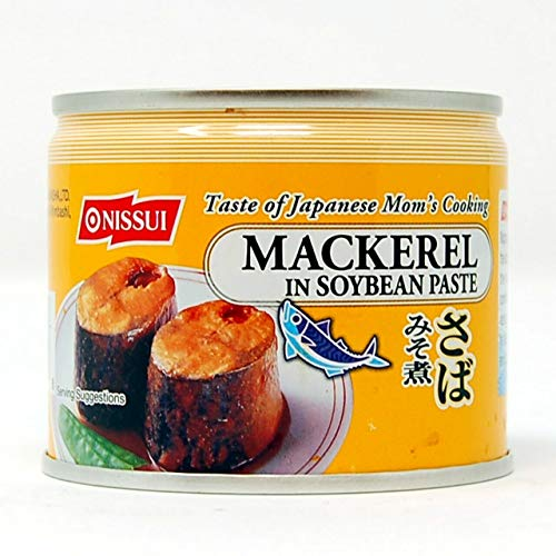 Nissui Saba Misoni - Canned Mackerel in Soybean Paste 190g (6.7oz.) (Pack of 10) Total 67oz.