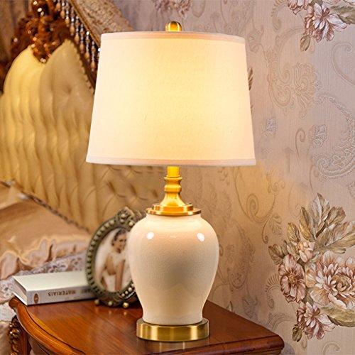 Bonne chose lampe de table Lampe de table en céramique américaine Lampe de chevet de chambre à coucher Éclairage de salon Éclairage de table décoratif minimaliste européen