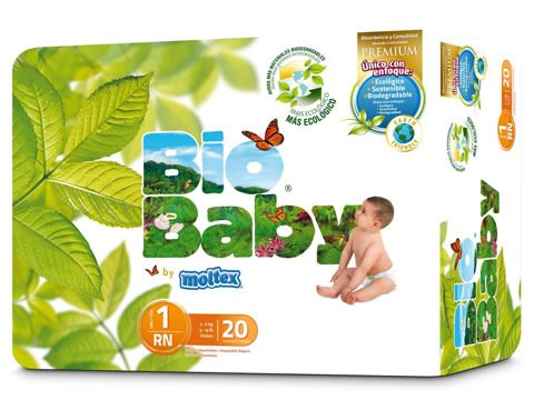 Pañales Bio Baby talla 1 (3-6kg) 20uds eco