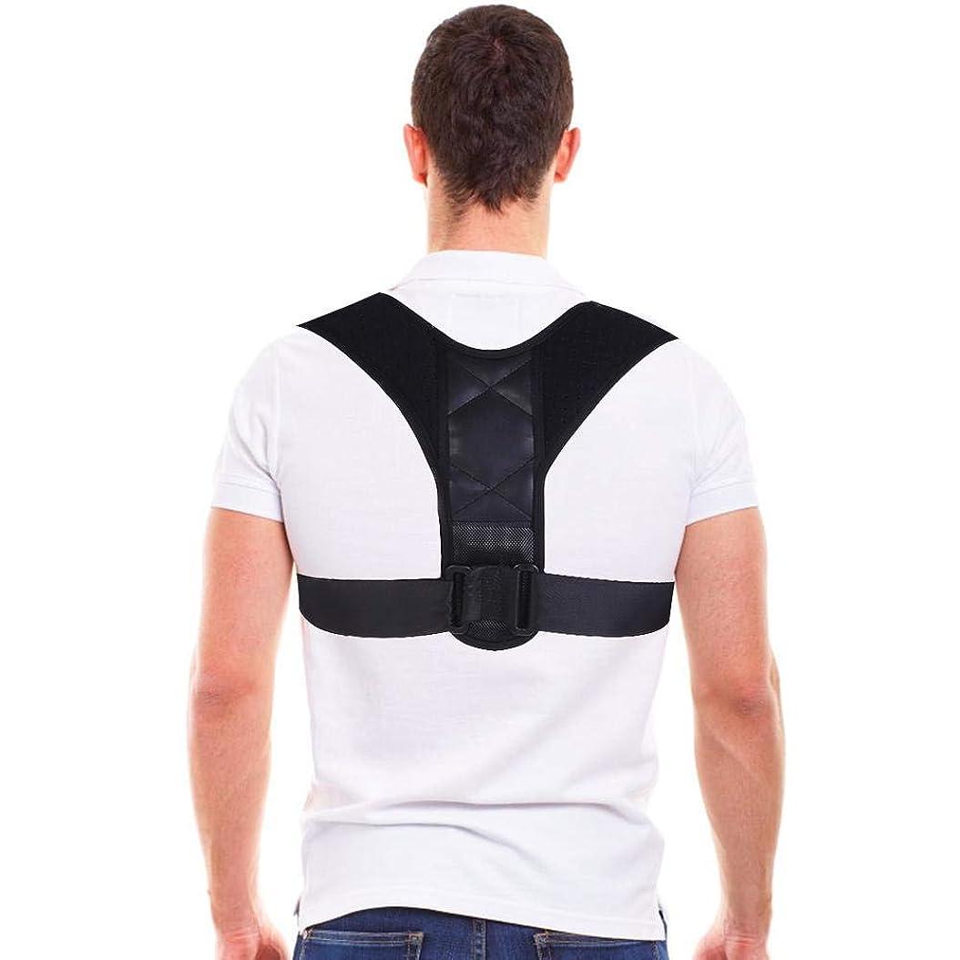 手順くしゃくしゃ起こるコレクター姿勢バックサポートベルト、8字型デザインの調節可能な鎖骨装具バンド、男性と女性の姿勢、腰痛予防、腰痛予防