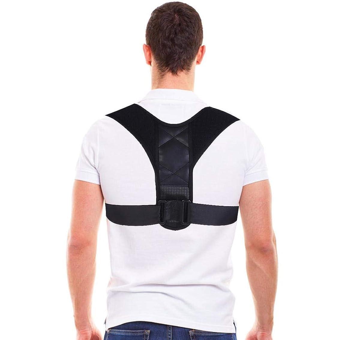 効能宿題相談するコレクター姿勢バックサポートベルト、8字型デザインの調節可能な鎖骨装具バンド、男性と女性の姿勢、腰痛予防、腰痛予防