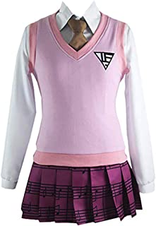 MYYH Anime Kaede Akamatsu Cosplay Girl School Pink Uniform Dress
