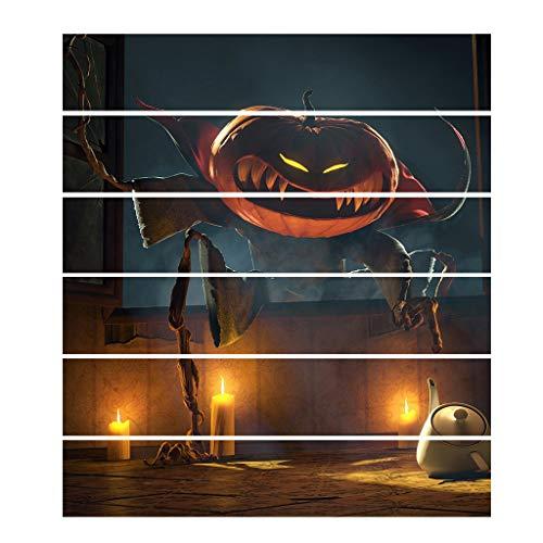 TeasyDay Halloween-Treppenaufkleber, kreative 3D-Stereo-Kürbis-Aufkleber, DIY-Inneneinrichtung, umweltfreundliches PVC, warmes Kunsttreppenaufkleber für Schlafzimmer, Café, Restaurant