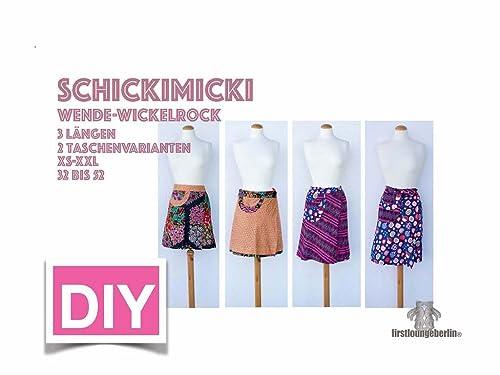 Schickimicki ROCK Wenderock Wickelrock Größe XS-XXL 32-52 mit Schnittmuster [Download]