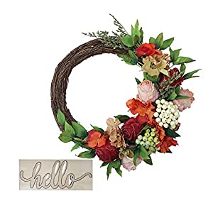 wenyun Artificial Garland Wall Decor Door Hanging Graves Wreath Ornament,Manmade Art Hanging Home ,Personalized Simulation Leaves Multi Coloured Home Holiday Office Garden Wedding Festival