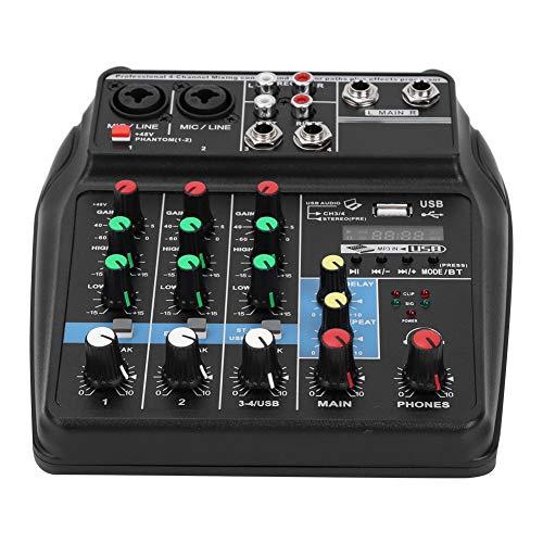 Byged Consola de Placa de Sonido Profesional, Equipo de Escenario Mezclador de...