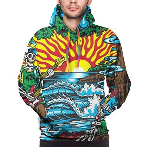Shichangwei Das V-Ampire D-iAri-ES Herren Neuheit Hoodie Realistischer 3D-Print Pullover Unisex Casual Sweatshirt Schwarz