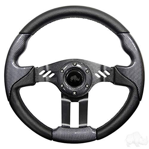 Aviator 5Golf carro volante (disponible en 4colores), Carbon Fiber Grip/Black Spokes