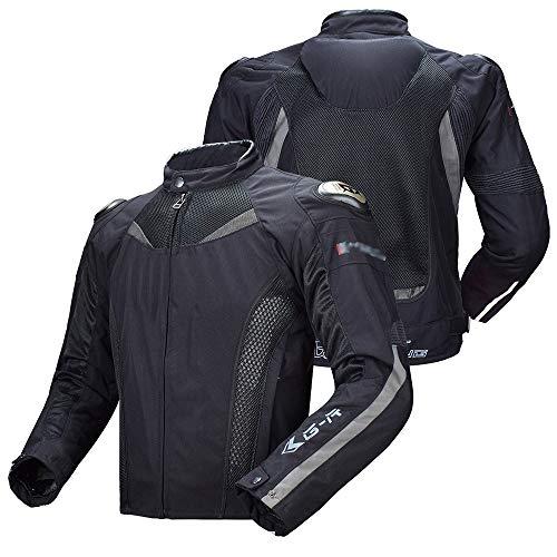 XEPAJS Veste de Moto pour Homme Armure Haute Protection en Cordura Imperméable à l'eau Haute Visibilité, Veste Moto Veste Textile, Respirante, Protecteurs, Gilet Matelassé (M-3XL)