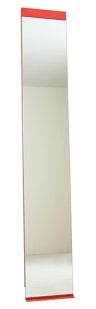 責任検索第五本当の自分を映し出す Accent+ スリム 姿見 鏡 リルミー 180cm 全身鏡 玄関 おしゃれ 壁掛けミラー 日本製 (レッド)