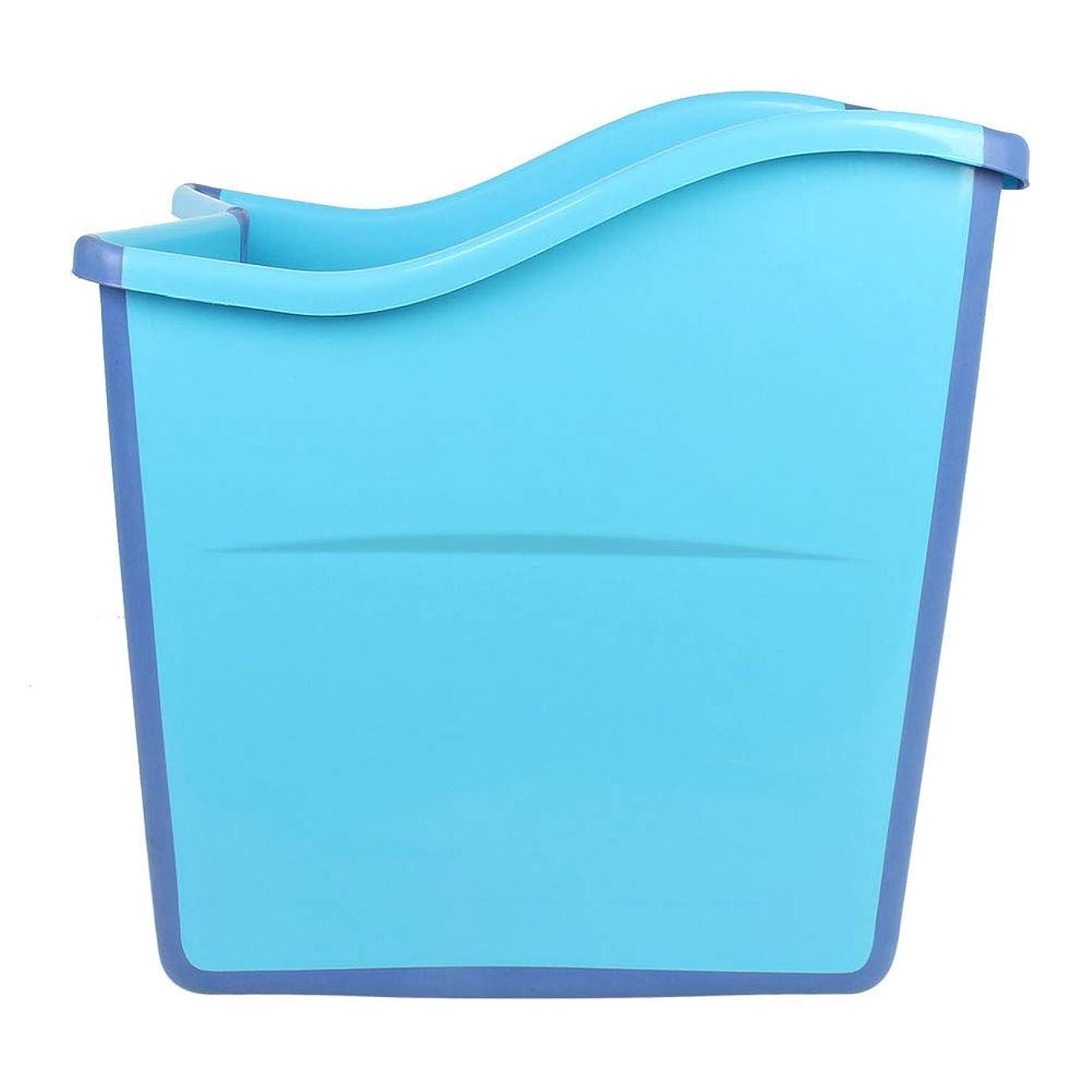 二次こしょう一般的に浴槽 折りたたみバスタブ 大人 お風呂 バスルームスパ 自宅用 家族用 バスタブプール 入浴用品 持ち運びやすい 贈り物 プレゼント 高耐久性 ロング 快適 子供の浴槽 ブルー