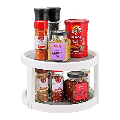 condimentos alimentos enlatados 2 Tier Lazy Susan Turntable Taylor /& Brown/® Organizador de cocina para especias
