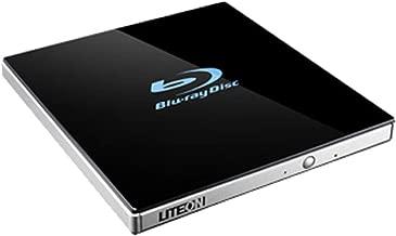 Lite-On 24x Ultra-Slim Portable USB 3.0 Blu-Ray UHD/DVD Writer Optical Drive EB1 - Supports BDXL/BD/DVD/CD/UHD/M-Disc - Bonus CyberLink Media Suite 10 Windows Software