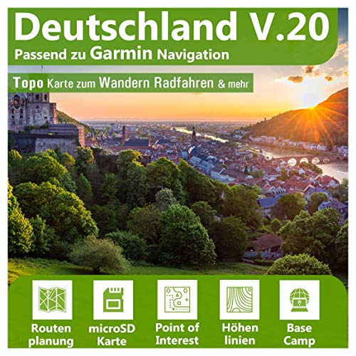 Deutschland V.20 - Profi Outdoor Topo Karte passend zu Garmin GPS 60, GPSMap 60Cx, GPSMap 60CSx, GPSMap 62s, GPSMap 62sc, GPSMap 62st, GPSMap 62stc, GPSMap 64, GPSMap 64s, GPSMap 64st
