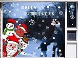 heekpek Pegatinas Navidad Ventanas Pegatinas Escaparate Navidad Decoracion de Navidad Pegatinas de Navidad para Escaparates y Puerta PVC Reutilizable Feliz Navidad Pegatinas