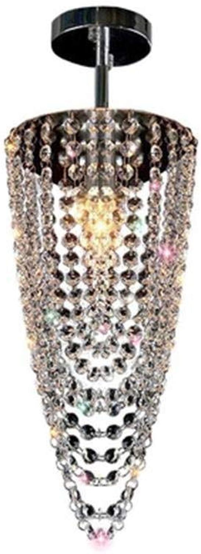 XFZ   Moderne Style De Mode E14 Pendentif Lumière Conique Cristal De Décor Lampe Suspendue Chrome Plaqué en Métal Design Unique Look Couleuré Rohommetisme Lampe Suspendue Max 40 W Couloir Loft éclair