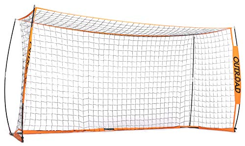 Outroad Portable 12x6 FT Soccer Goal for Backyard, Metal Basic Soccer Net for Practice, Goal Post for Soccer with Carry Bag,(Orange)