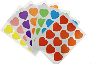 Shxstore Multi Colorful Heart Scrapbook Stickers Decals Envelope Seals, 42 Sheets, 504 Decals