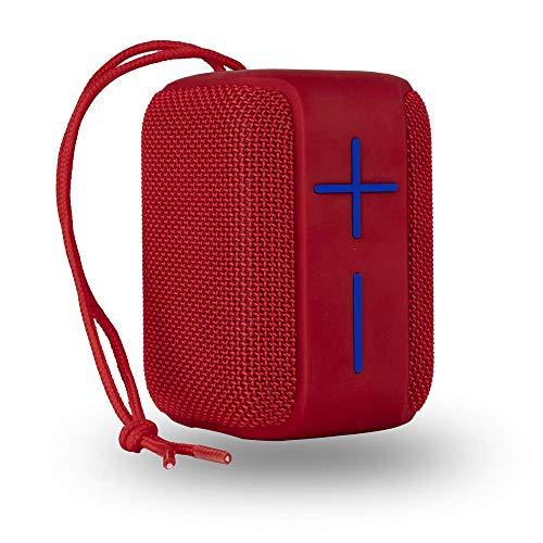 NGS Altavoz PORTÁTIL Roller Coaster Red 10W Compatible con TECNOLOGÍA Bluetooth -USB-Micro SD-AUX IN, Color Rojo, AUTONOMÍA 10 HR, IPX6, Cordel