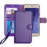 ERAGLOW Galaxy J7 2018 Case/J7 V 2nd case/J7 Refine/J7 Star/J7 Aero/J7 Crown/J7 Top/J7 Aura/J7 Eon Case,Luxury PU Leather Wallet Flip Protective Case Cover for Samsung Galaxy J737 (Purple)