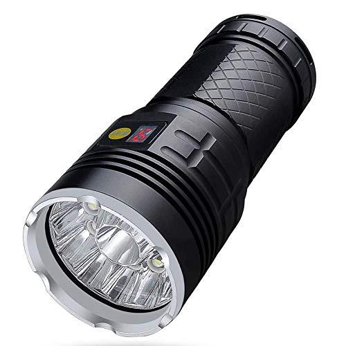 WJLGKSZG Linterna súper Brillante de 18 LED de Alta Potencia y 15000 lúmenes con baterías Recargables USB Linterna Impermeable para Camping, Caza, Pesca y Actividades al Aire Libre