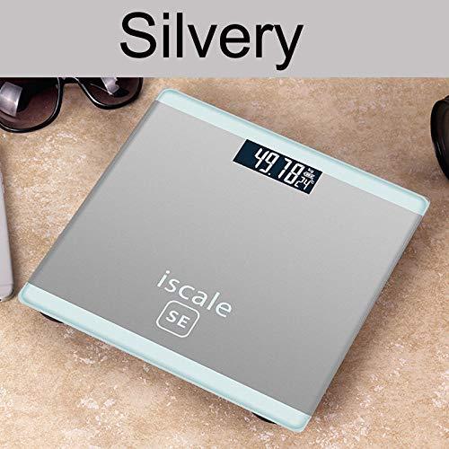 4 Kleuren Gewicht Schaal Elektronische LCD Weergave Gewichten Badkamer Schaal Weegmachine Persoonlijke Lichaam Schalen 180kg Smart Balance zilverkleurig.