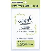 呉竹 ZIG カリグラフィー用カード(ケント紙) 白・20枚入 ECF100-1