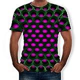 Overdose Tops De Hombre Divertido 3D Color Impreso De Cuello Redondo Camiseta De Manga Corta De Manga Corta Al Vapor En La Fiesta Camiseta Club Desgaste