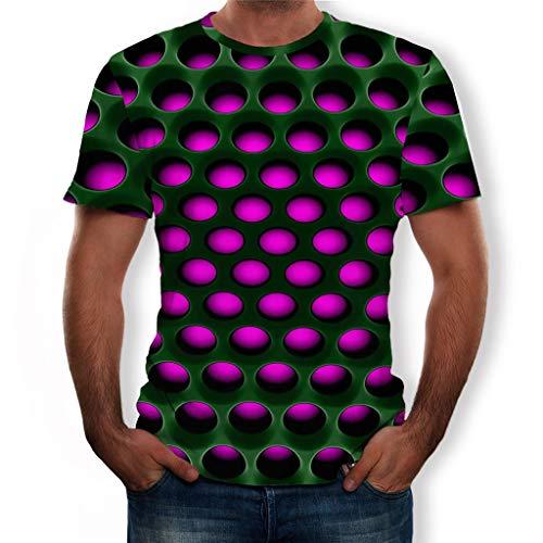 Momoxi 3 Herren Print Kurzarmhemd Rot L, Sommertop weich Squash-T-Shirts für Herren 2020 Männer Ultra Geschenk