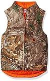 Carhartt Boys' Little Reversible Vest, Dark Brown Print, X-Large (18/20)