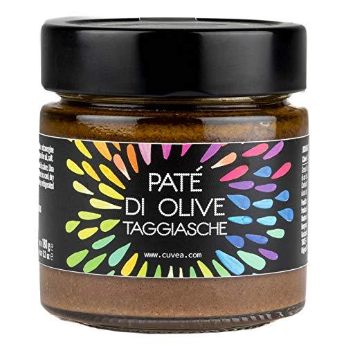 Patè di olive taggiasche Cuvea - 180 g - Solo 3 Ingredienti: olive taggiasche, olio extravergine di oliva, sale - Senza conservanti né coloranti