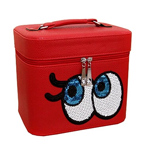 Big Eyes Cosmetic Bag Voyage Wash Bag Maquillage / Box cosmétique, Rouge