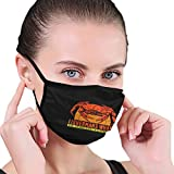 Unisex Face Mask Fisherman's Wharf San Francisco Reusable Cloth Face Mask Adjustable Black