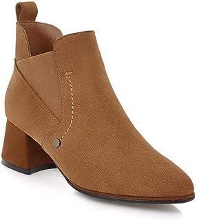 BalaMasa Womens Dress Nubuck Solid Urethane Boots ABM13176