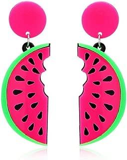 1 Paire Lady Cartoon fruits Hip Hop CLOUS D/'OREILLES pastèque Bijoux Cadeau
