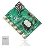 GINTOOYUN PC Diagnostic 2-Digit Card,Module Board Test & Measuring Module PC Computer Mother Board Debug Post Card Analyzer PCI Motherboard Tester Diagnostics Display for Desktop PC