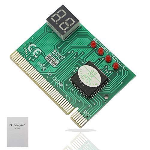 PC Diagnose 2-stellige Karte, Modul Board Test & Messmodul PC Computer Motherboard Debug Postkarte Analyzer PCI Motherboard Tester Diagnoseanzeige für Desktop PC