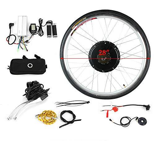 HaroldDol Elektrisches Fahrrad-Umbausatz 28 Zoll 36V 800W LCD E-Bike Conversion Kit Elektro-Fahrrad Kit E-Bike Hinterrad Elektrofahrrad Umbausatz